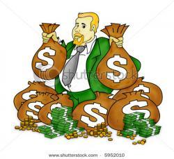 Money clipart rich person