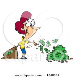 Cash clipart spending money