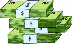 Money clipart stacked