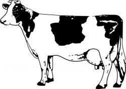 Line Art clipart cow