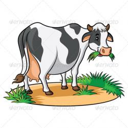 Cow clipart grass eating