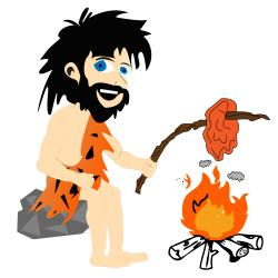 Caveman clipart cooking