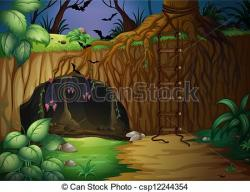 Cavern clipart bat cave