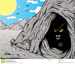 Cave clipart spooky