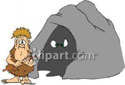 Caveman clipart cave