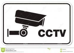 Cctv clipart black and white