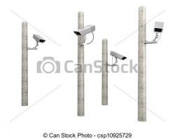 Cctv clipart pole