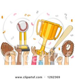 Baseball clipart celebration