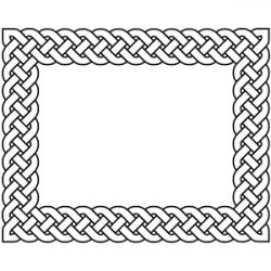 Braid clipart border