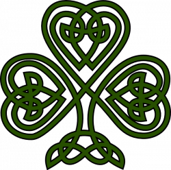 Celtic Knot clipart four leaf clover