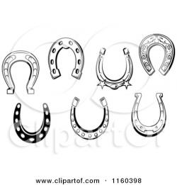 Drawn horseshoe simple