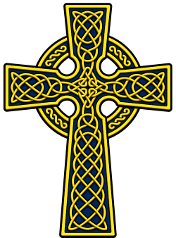 Irish clipart gothic cross