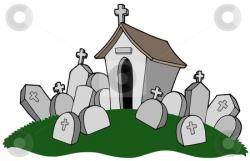 Grave clipart graveyard