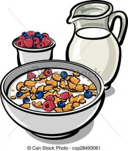 Breakfast clipart milk cereal
