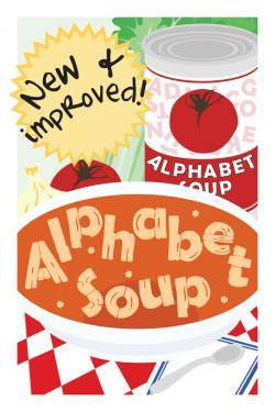 Cereal clipart alphabet soup