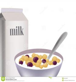 Cereal clipart cereal milk
