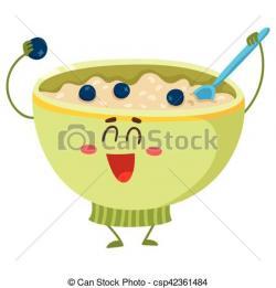 Oat clipart bowl porridge