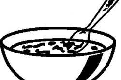 Porridge clipart bowl spoon