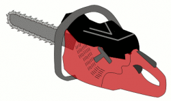 Chainsaw clipart animated