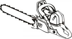 Chainsaw clipart black and white