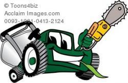 Chainsaw clipart cartoon