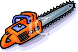 Chainsaw clipart firewood