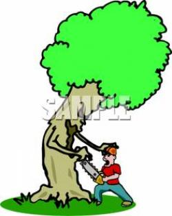 Chainsaw clipart lumberjack