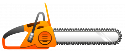 Chainsaw clipart simple