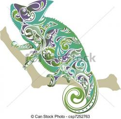 Chameleon clipart abstract