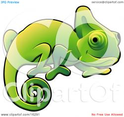 Chameleon clipart adorable