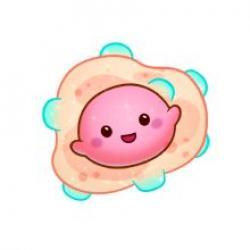 Bacteria clipart cute