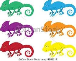 Chameleon clipart colorful