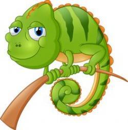 Chameleon clipart cute cartoon