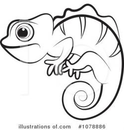 Chameleon clipart drawn