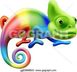 Cameleon clipart cute