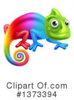 Chameleon clipart rainbow
