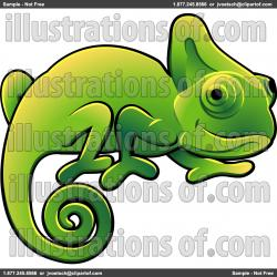 Cameleon clipart simple