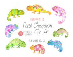 Chameleon clipart toucan