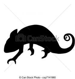 Chameleon clipart vector