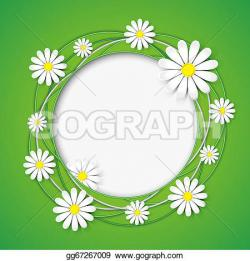 Chamomile clipart flower background