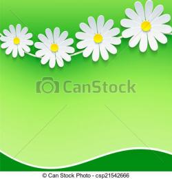 Camomile clipart spring frame