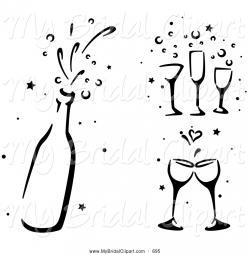 Champagne clipart bridal