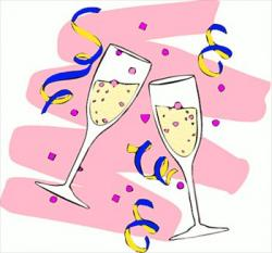 Champagne clipart congratulation