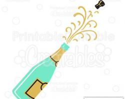 Champagne clipart popping