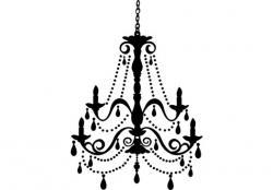 Gothc clipart chandelier