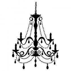 Chandelier clipart wall decal