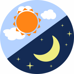 Lunar clipart day night