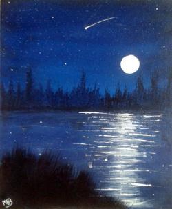 Drawn night sky