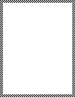 Checkerboard clipart frame
