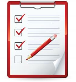 Overview clipart checklist